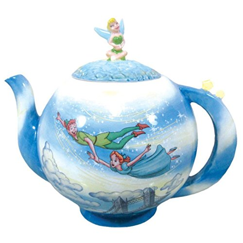 Westland Giftware 7-Inch Ceramic Teapot, 35-Ounce, Disney Peter Pan You Can Fly