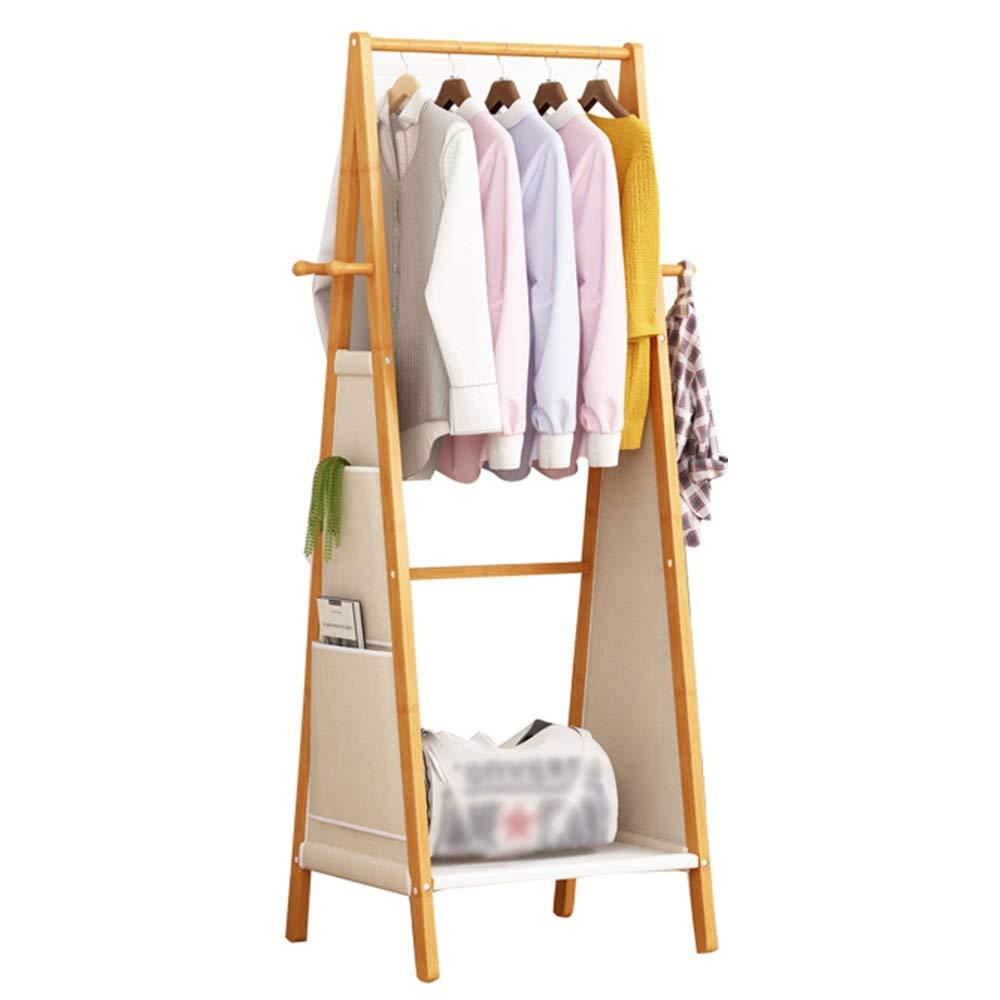 6051153cm Feifei Coat Rack Bamboo Creative Floor-Standing Multi-Function Household Storage Rack Coat Rack, 4 Hooks, 3 Sizes (Size   80  51  153cm)