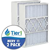 Tier1 16x25x5 MERV 11 Day & Night MU1625 / M1-1056 Comparable Air Filter DPFWG16X25X5M11DDN - 2PK