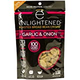 Enlightened Plant Protein Gluten Free Roasted Broad (Fava) Bean Snack, Garlic and Onion, 4.5 Ounce (Pack of 12)