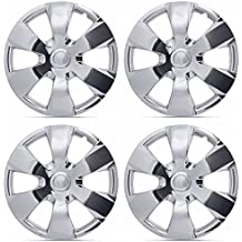 """BDK Toyota Camry Style Hubcaps , Chrome 16"""" Inch Replica Cover, OEM Factory Replacement (4 Pieces)"""
