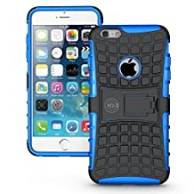 iPhone 6 Plus Case, iPhone 6 plus or 6S Plus Armor cases 6 plus Tough Rugged Shockproof Armorbox Dual Layer Hybrid Hard or Soft Slim Protective Case by Cable and Case by Blue Armor Case