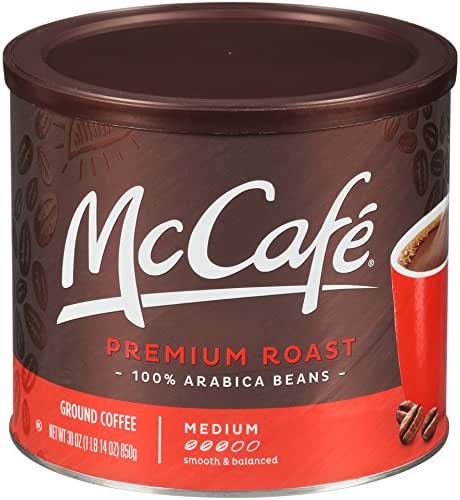 McCafe Premium Roast Ground Coffee (30 oz Tin)