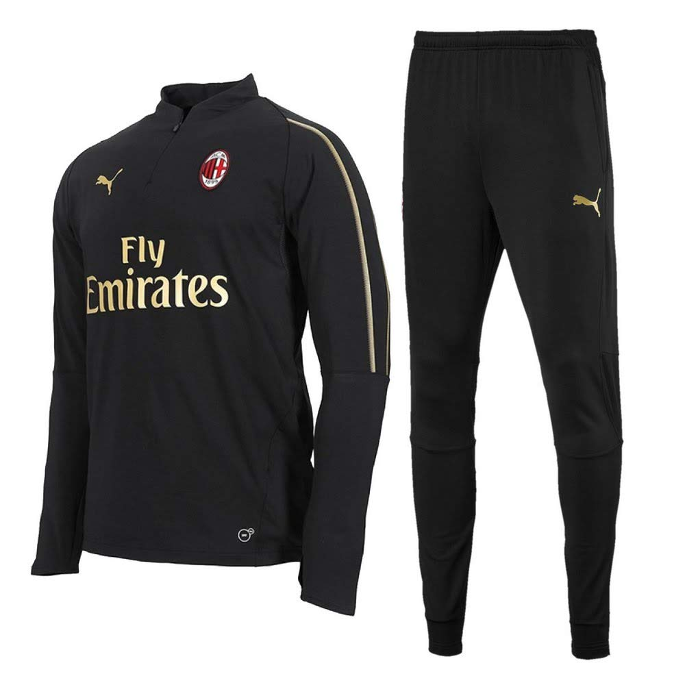 Puma AC Mailand 1 4 Zip Trainingsanzug - schwarz 2018 2019