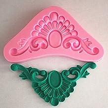 Longzang Art Déco sucre Craft Moule en Silicone pour décoration de gâteau en pâte à sucre en argile