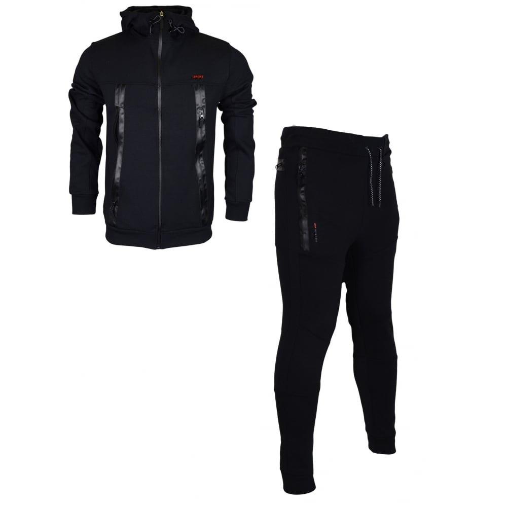 Born Rich Herren Trainingsanzug Schwarz schwarz