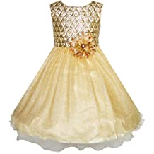 Flower Girl Dress Sparkling Pearl Belt Shrimp Pink Wedding Bridesmaid Size 3-14