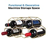 9 Bottles Metal Wine Rack, Countertop Free-Stand