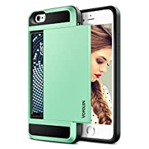 iPhone 6S Case, iPhone 6 Case, Vofolen® Impact Resistant Protective iPhone 6 Wallet Cover Shockproof Rubber Bumper Case Anti-scratches Hard Shell Skin with Card Slot Holder for iPhone 6S - Mint