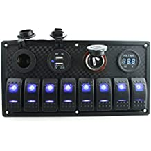 IZTOSS 8 Gang switch panel