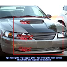 1999-2004 Ford Mustang GT V8 Billet Grille Grill Combo Insert # F87884A
