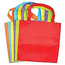 Baker Ross Bolsas de Tela de Colores (paquete de 6) para proyectos de arte y manualidades para niños