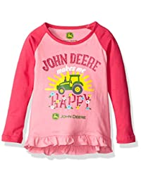 John Deere baby-girls Baby Makes Me Happy Tee