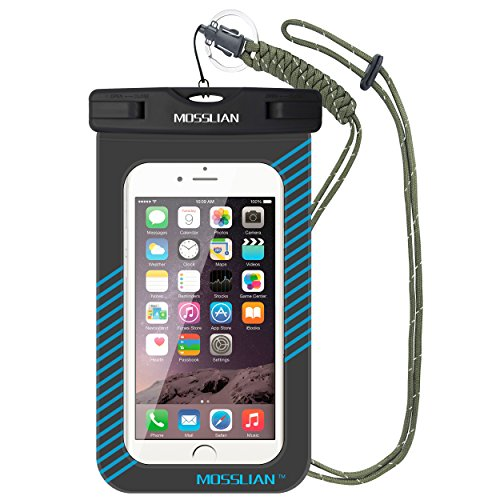Amazon Lightning Deal 56% claimed: MOSSLIAN Waterproof Case Pouch for iPhone 6s, iPhone 6s Plus, SE, iPhone 6/5/4, Samsung Gaxaly Note 5/4/3/2, S6 Edge, S6, S5, S4, HTC, LG, Huawei and other upto 6 Inch.