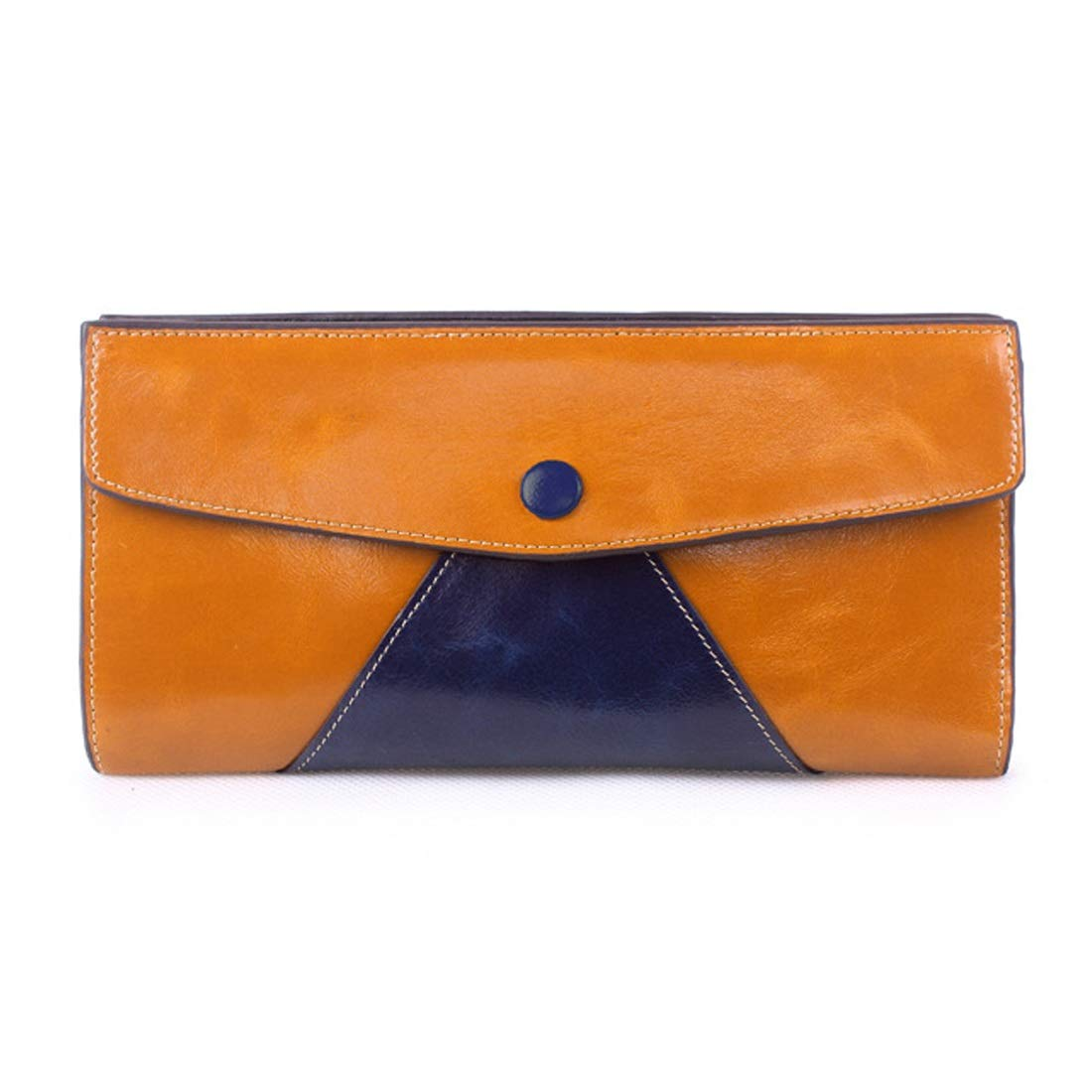 Professional Bag Long Wallet Popular Items Ladies Folded Wallet Purse Popular Leather Made of Unisex. Outdoor Travel Essentials (color   1)