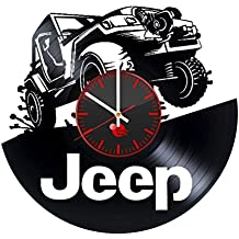 Jeep Wrangler Vinyl Record Wall Clock - Get unique home room and office wall decor - Gift ideas for women, men and boys – Automobile Unique Art Design - Leave us a feedback and win your custom clock