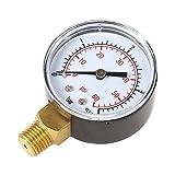 KKmoon 50mm 0~60psi 0~4bar Pool Filter Water Pressure Dial Hydraulic Pressure Gauge Meter Manometer 1/4 BSPT Thread