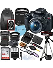$574 » Canon EOS Rebel T7 Digital SLR Camera with EF-S 18-55mm Zoom Lens + SanDisk 64GB Memory Card + Tripod + Case + Wideangle Lenses + ZeeTech Accessory Bundle (20pc Bundle)