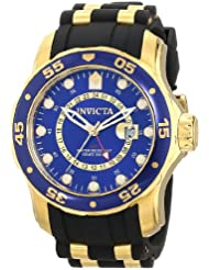 Invicta Mens 6993 Pro Diver Collection GMT Blue Dial Black Polyurethane Watch