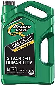 Quaker State 550044965 Advanced Durability 5W-20 Motor Oil (SN/GF-5), 5 quart