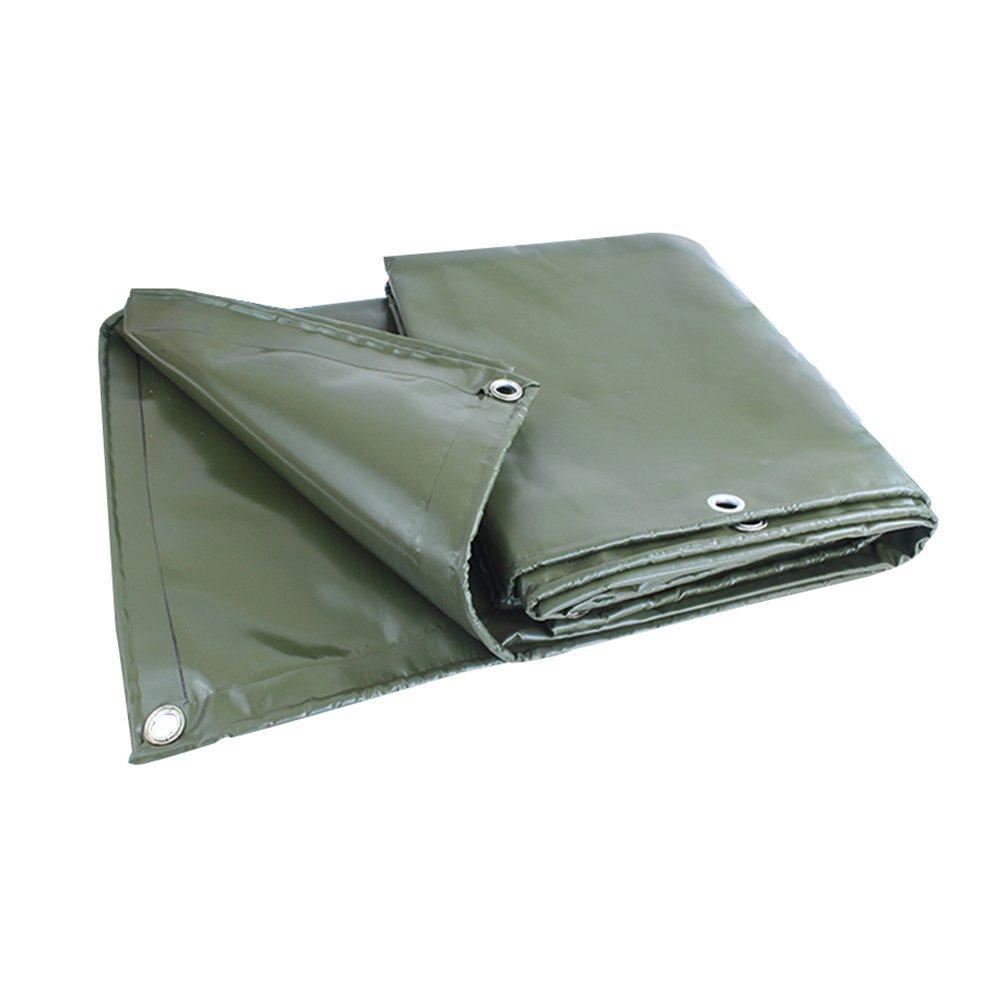AJZGF Regenschutz Wasserdicht Starke Plane, Marineautozug Verdickte Ponchoisolationsabnutzung, Militärgrün (Farbe   Armeegrün, größe   3x5M)