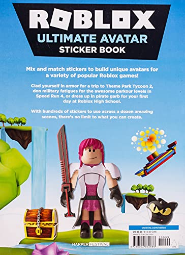 Roblox Ultimate Avatar Sticker Book Paperback – Book, May 21, 2019