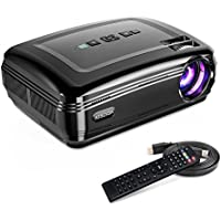 Overhead Projector, KISDISK Home Theater Video Projector 1080P HD Movie Projectors Portable Office Business Projector, Compatible with TV Stick, HDMI, VGA, USB, Xbox, Laptop, Smartphone