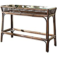 Panama Jack Sunrooms Bora Bora Console Table with Glass,