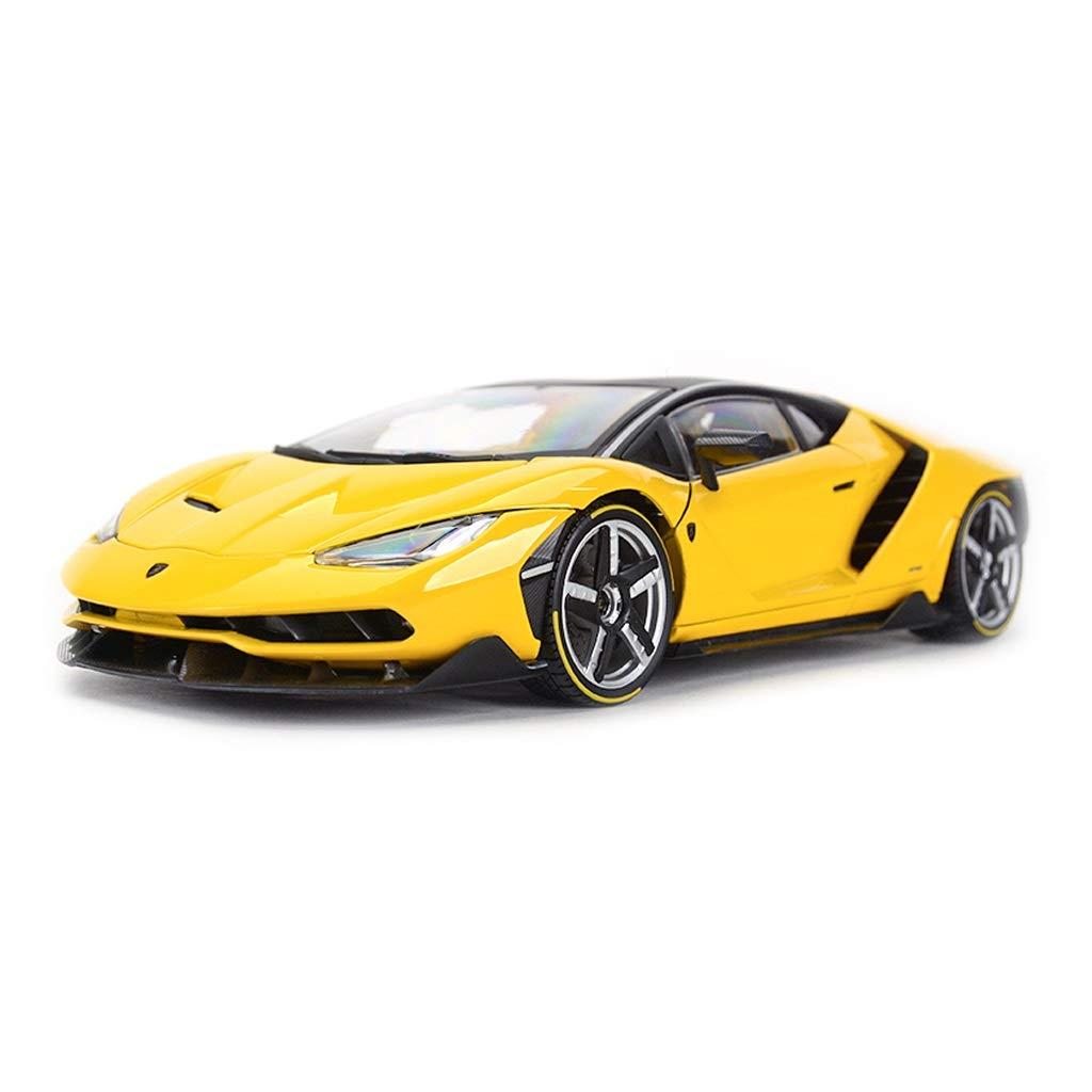 Auto Modello Lamborghini LP770-4 Modello di Auto Sportiva Modello in Scala 1 18 Modello di pressofusione Modello statico Collezione Ornamenti Regali ( Colore   Giallo )