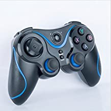 Wireless Bluetooth Gamepad Controller Rechargeable for Smart phone,Pad,TV,TV Box ,amazon fire stick with Android Platform 3.2 and Above (black+blue)