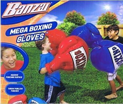 BANZAI MEGA BOXING GLOVES KIDS OUTDOOR INDOOR TOYS PAIR SET INFLATABLE BUMPER