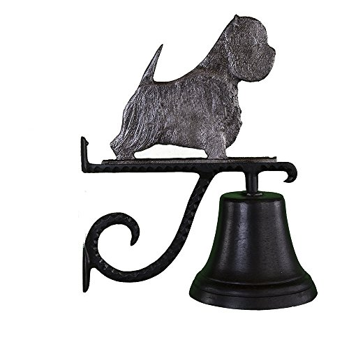 Montague Metal Products Cast Bell with Swedish Iron West Highland White Terrier ()