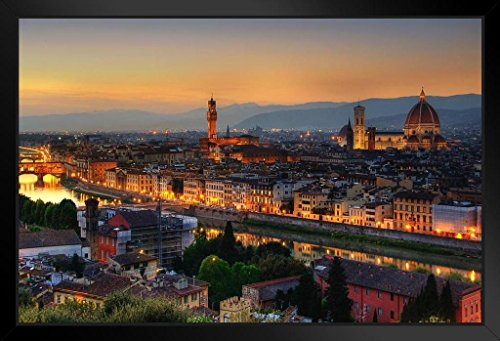 sk with Cathedral of Saint Mary of the Flower Photo Art Print Framed Poster by ProFrames 20x14 inch (Florence Framed)