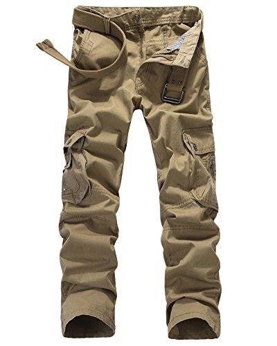 Militaire Kaki De Pantalon Combat Quge sans Pantalons Cargo Multi Poches Travail Armee Ceinture Homme ZawO4OnB