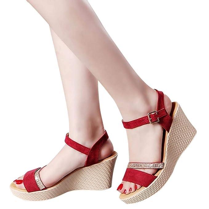 0b748e50d6828 Amazon.com: Clearance Women Summer Sandals, Ladies Peep Toe Platform ...