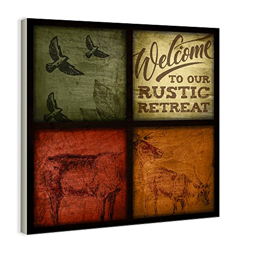 Stupell Home Décor Rustic Wildlife Patchwork Wall Hanging
