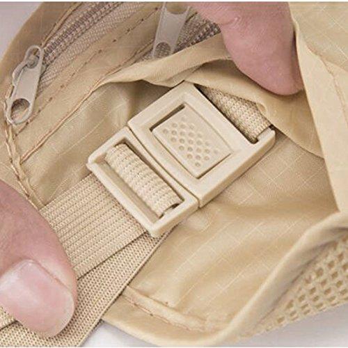 de cintura Vin Tarjetas carpet Ajustable de Bolsa Seguro Bolso de Viaje de dinero Oculto beauty Bolsa Cinturn Seguro la POrPqawx