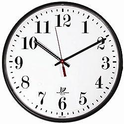 Chicago Lighthouse 12.75 Slimline Indoor/Outdoor Wall Clock, Black