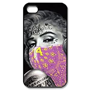 Customized Cell Phone Case Cover for iPhone 4,4S with DIY Design Kobe Bryant