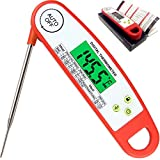 Meat Thermometers, Smart Auto On Off Meat Thermometer Instant Read Candy Thermometer Waterproof Digital Food Thermometer for Meat, Candy, Milk, Water, Grill Smoker