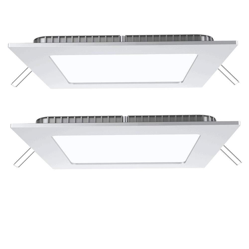 2er Set 24 W LED Decken Einbau Panel Lampe Schlafzimmer ALU Raster Leuchte 1-flg etc-shop