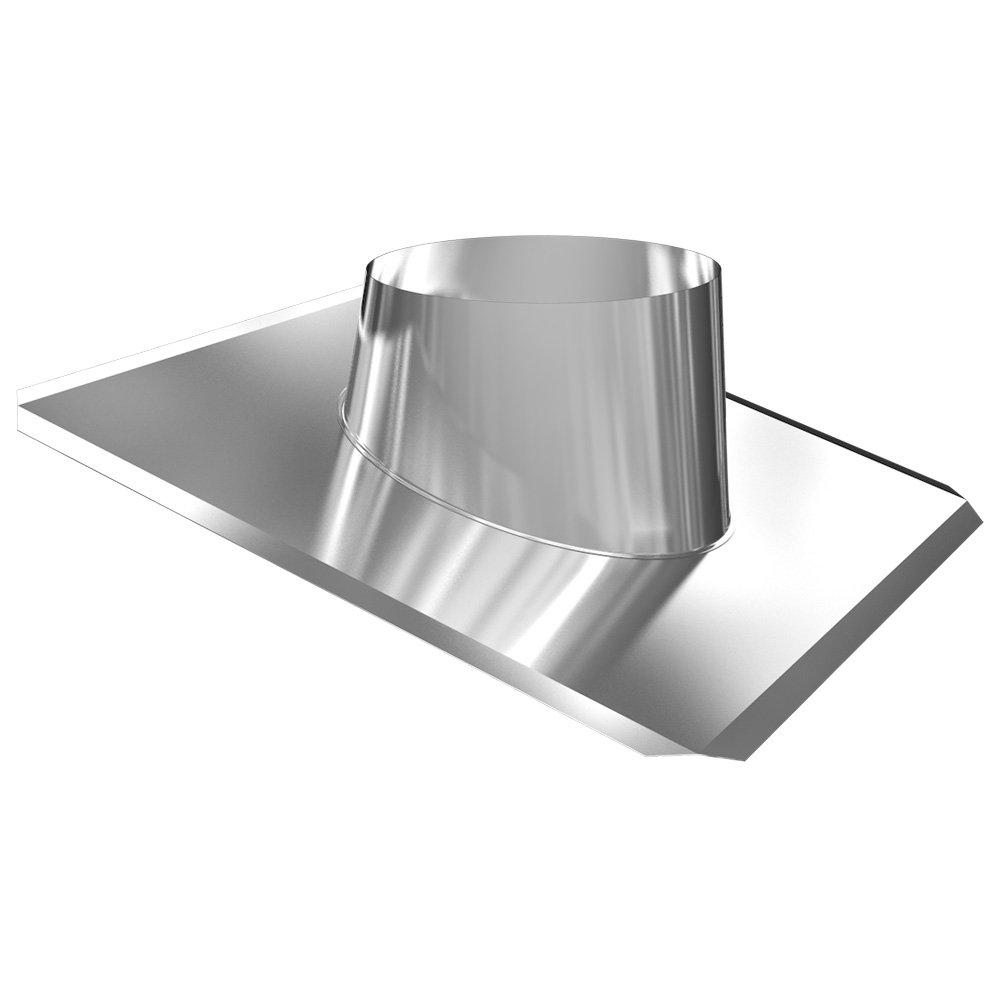 Edelstahlschornstein Dachdurchf/ührung Edelstahl//Blei 5-20/° DW 150