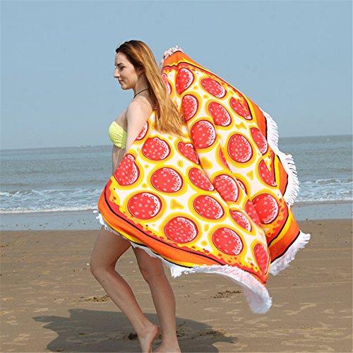 Tamengi Gigantic Outdoor Rayon Beach Blanket Pizza Beach Towel Perfect for Beach, Pool, Picnic