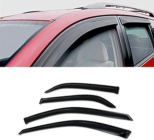 Dark Grey Outside Mount JDM Vent Visors Deflector 4pc For Toyota Camry 4dr 07-11