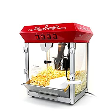 Paramount 6oz Popcorn Maker Machine - New Upgraded Feature-Rich 6 oz Hot Oil Popper [Color: Red]