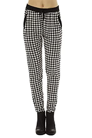 Golden Black Women's Printed Knitted Joggers Pants 122 S
