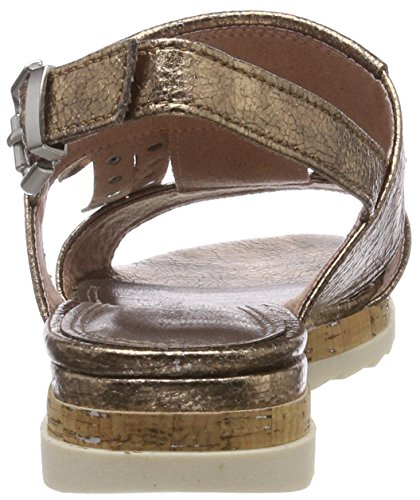 Marco Metall De Tozzi 28601 copper Talón Sandalias Abierto Marrón Mujer Para gwZgrfqxan