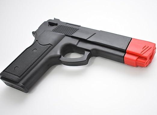 CAUCHO NEGRO Pistola ideal para artes marciales defensa personal Entrenamiento: Amazon.es: Deportes y aire libre