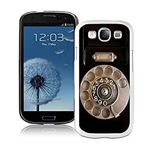 Elegant Classic Samsung Galaxy S3 Case Durable Soft Silicone TPU Retro Telephone White Cell Phone Case Cover Protector