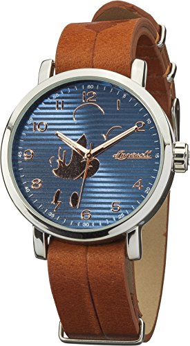 DISNEY-INGERSOLL 007SLBR Mens CLASSIC TIME Mickey Watch